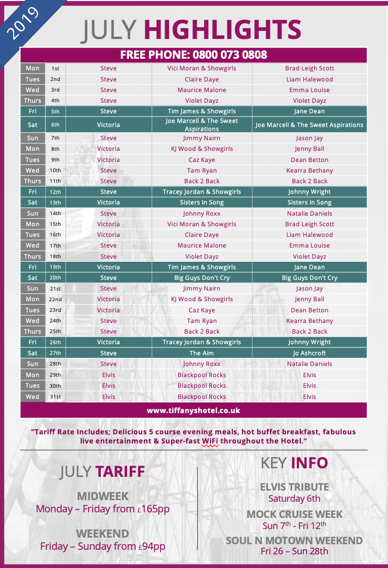 Tiffany's Entertainment Guide - July