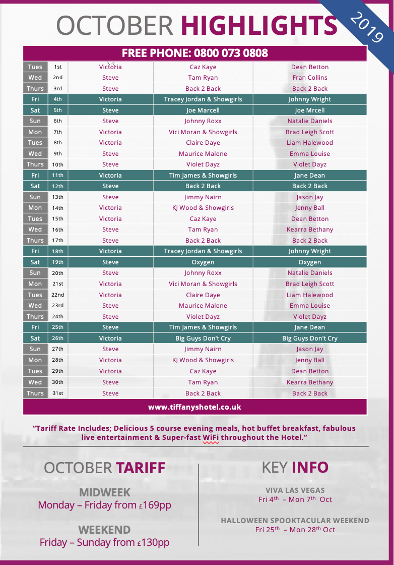 Tiffany's Entertainment Guide - October