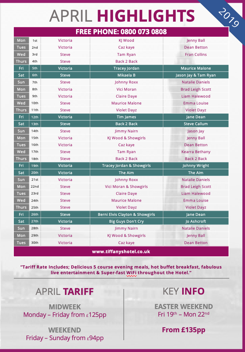Tiffany's Entertainment Guide - April