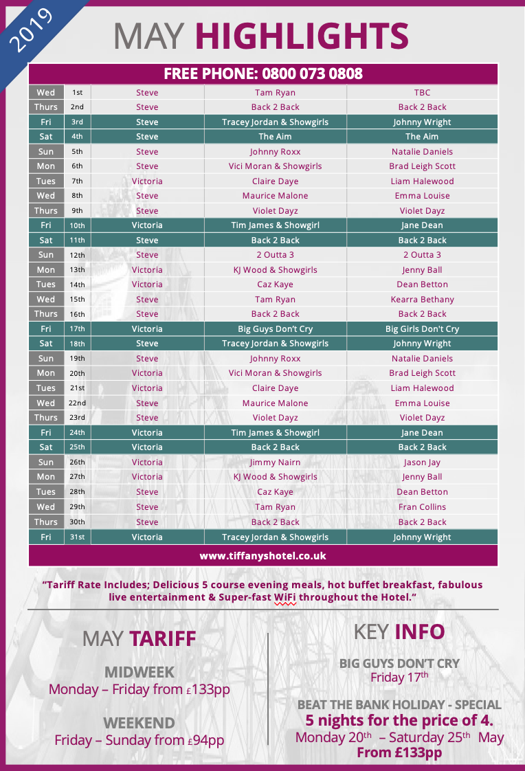 Tiffany's Entertainment Guide - May