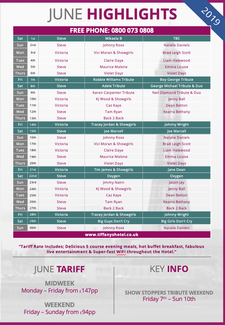 Tiffany's Entertainment Guide - June
