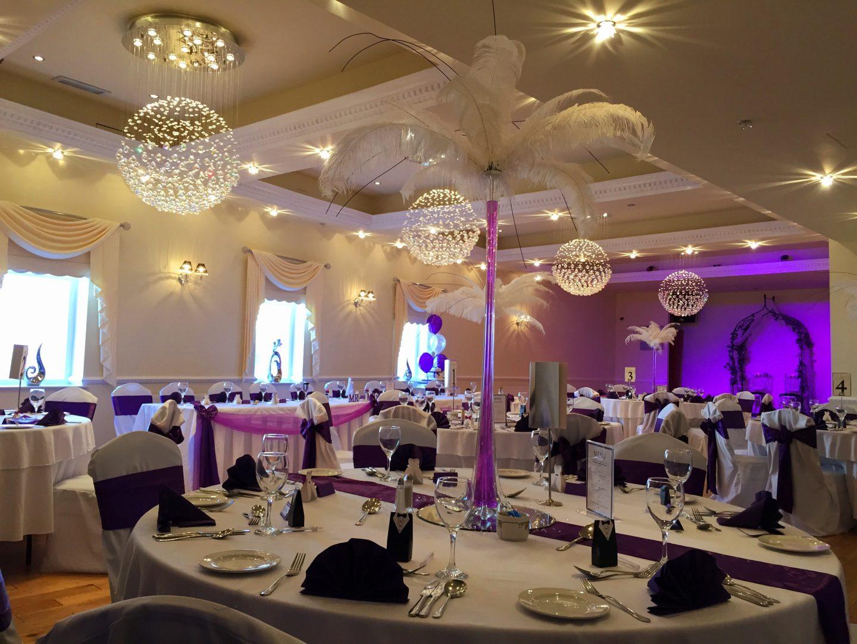 Purple Wedding Breakfast